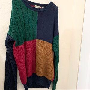 St.John's Bay Colorblock Men's Long Sleeve Sweater